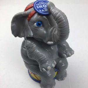 Barnum & Baileys circus elephant lidded cup.